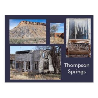 Postal Thompson salta pueblo fantasma moderno, Utah