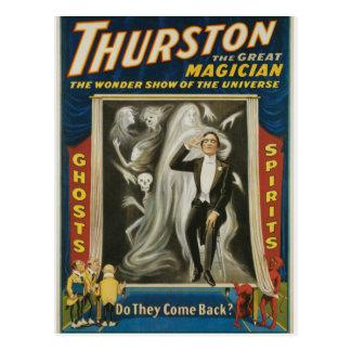 Postal Thurston el gran anuncio del vintage del mago