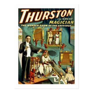 Postal Thurston el mago - la demostración de la maravilla