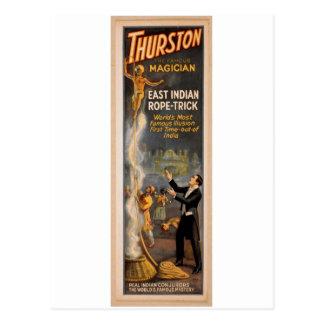 """Postal Thurston, """"truco indio del este"""" Thea retro de la"""