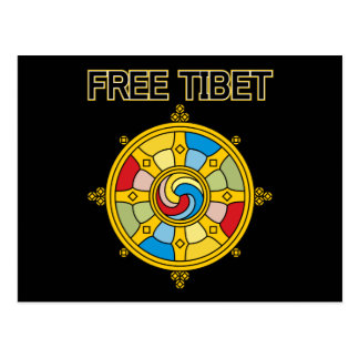 Postal Tíbet libre Dharmacakra