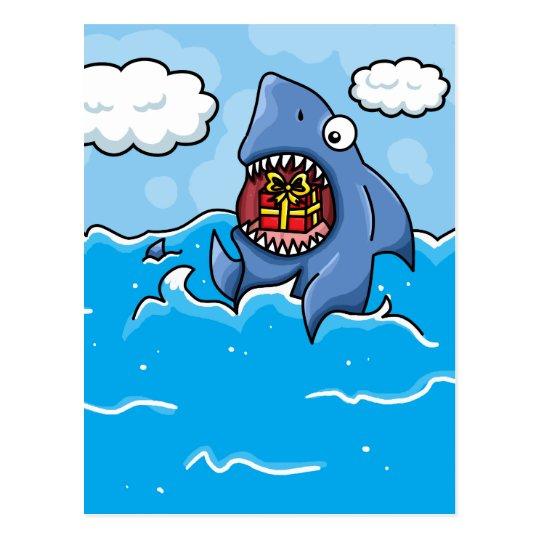 Postal Tiburón con el presente