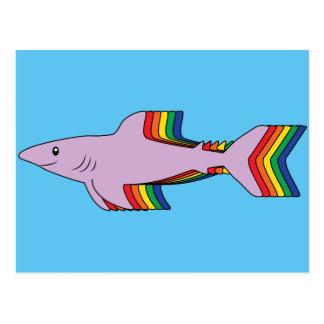Postal Tiburón del arco iris