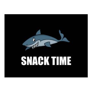Postal Tiburón del tiempo del bocado