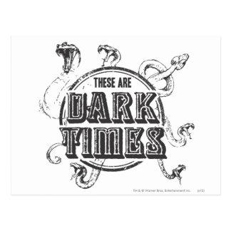 Postal Tiempos de la oscuridad del encanto el   de Harry
