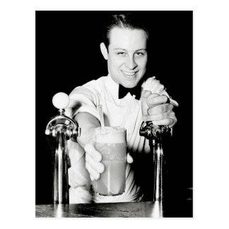 Postal Tienda de la soda, 1936