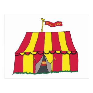 Postal Tienda del top grande del circo