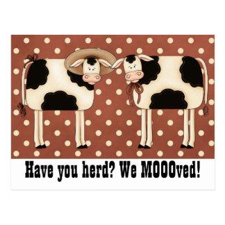 Postal ¿Tiene usted reunir? ¡Nosotros Moooved! Pares