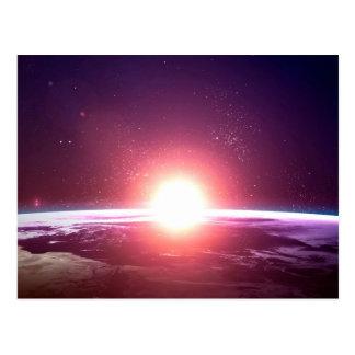 Postal Tierra del espacio