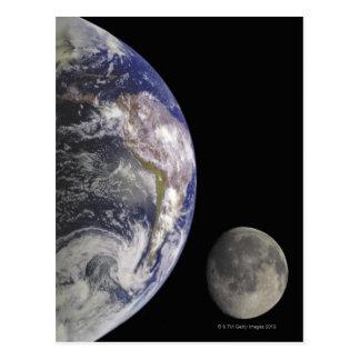 Postal Tierra y luna