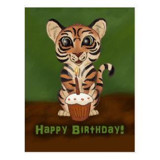 Postal Tigre del cumpleaños