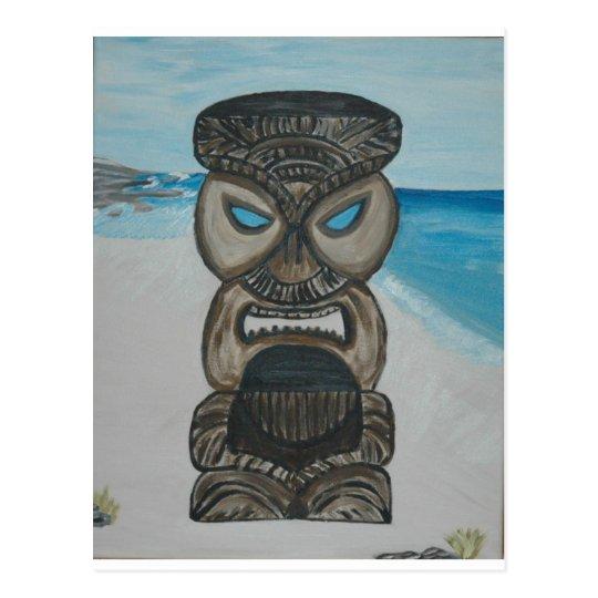 Postal tiki en la playa 004 de Maui - copia