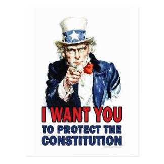 Postal Tío Sam: Quisiera que usted protegiera la