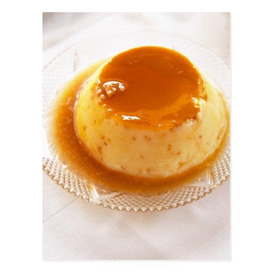 Postal Tipo del caramelo de nata de pudín con caramelo
