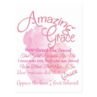 Postal Tipografía color de rosa rosada hermosa de la