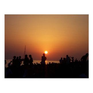 Postal Tira de la puesta del sol de Ibiza