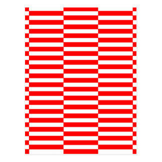 Postal Tiras - rojo y blanco