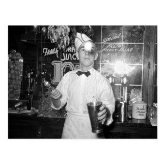 Postal Tirón de soda, los años 30