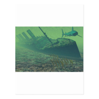 Postal Titanic sunk