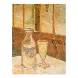 Postal Todavía vida con el ajenjo de Vincent van Gogh