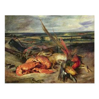Postal Todavía vida con las langostas, 1826-27