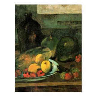 Postal Todavía vida delante de una puntada - Paul Gauguin