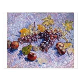 Postal Todavía vida: Manzanas, peras, uvas - Van Gogh