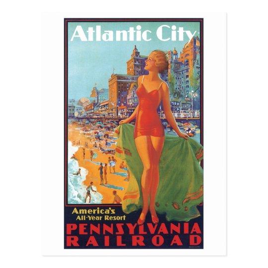 Postal Todo el centro turístico del año de Atlantic City
