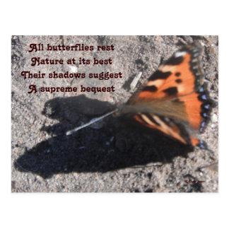Postal todo el poema del resto de las mariposas po