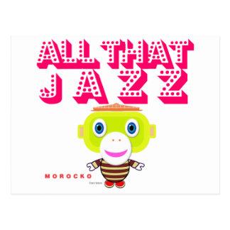 Postal Todo el que Mono-Morocko Jazz-Lindo
