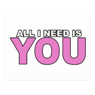 Postal Todo lo que necesito es usted