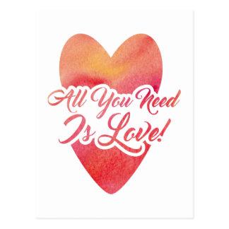 Postal todo-usted-necesidad-ser-amor