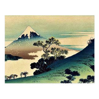 Postal Toge del inume de Koshu por Katsushika, Hokusai