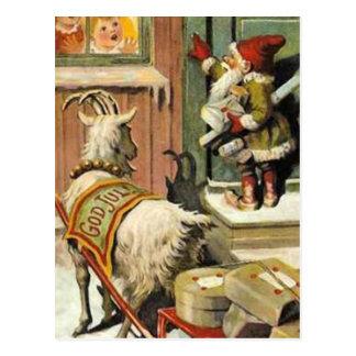 Postal Tomte Nisse, aka Papá Noel