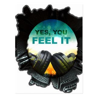 Postal Tono DJ del auricular de la música de la sensación