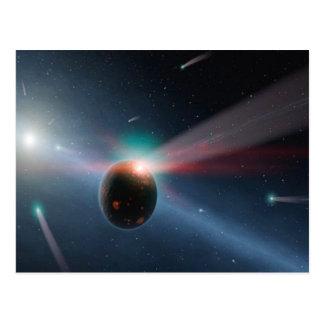 Postal Tormenta del cometa