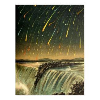 Postal Tormenta del meteorito de Leonid que pinta a