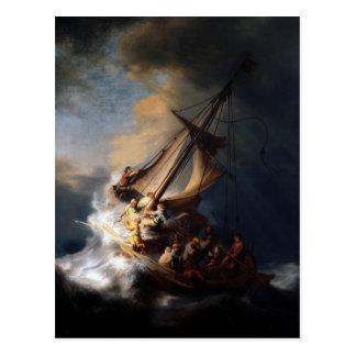 Postal Tormenta en el mar de Galilea