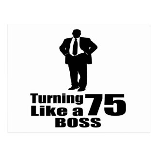 Postal Torneado de 75 como Boss