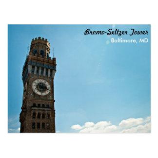 Postal Torre Baltimore del Bromo-Seltzer