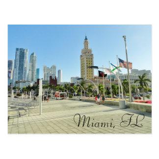Postal Torre céntrica de Miami/de la libertad