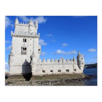 Postal Torre de Belem, Lisboa, Portugal