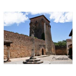 Postal Torre de Fernán González en Covarrubias