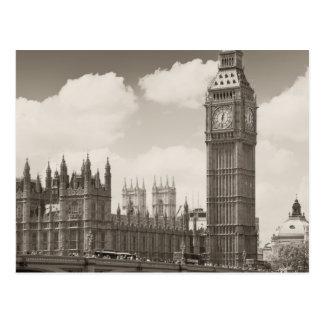 Postal Torre de reloj de Big Ben Londres