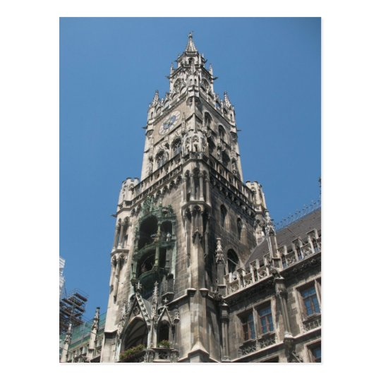 Postal Torre del Glockenspiel - Munich, Alemania