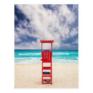 Postal Torre del salvavidas en la playa el | Cancun,