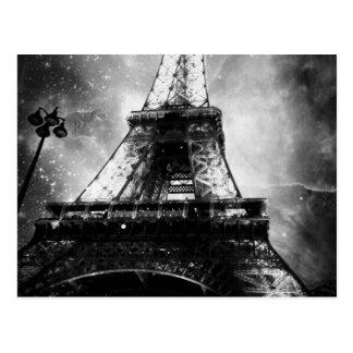 Postal Torre Eiffel, blanco y negro