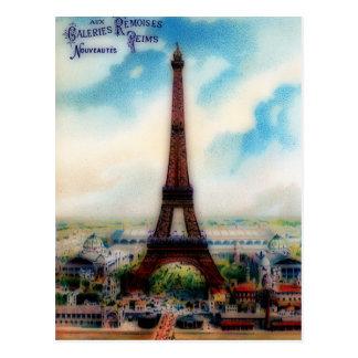 Postal Torre Eiffel del vintage