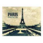 Postal Torre Eiffel del vintage, París, 1889