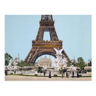 Postal Torre Eiffel, París Francia 1889